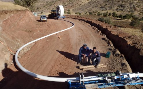 SoluForce electrofusion in line installation Iraq mountains