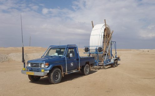 SoluForce Libya Uncoiling Trailer